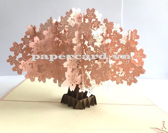 Cherry blossom 3D Card/Pop up card/Greeting card