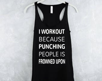 Workout Tank Top, Fitness Tank Tops, Workout Tank Tops with Sayings, Womens Workout Tank Tops, Yoga Tank Tops - Frowned Upon