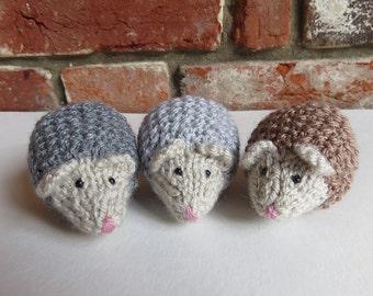 Soft Hand Knitted Mini Hedgehog