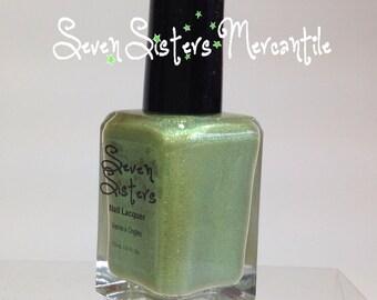 Celaeno - Seven Sisters Nail Lacquer - 15 mL 0.5 Fl Oz. - Pleiades Collection - Lime w/ Yellow & Green Duochrome Light Holo Nail Polish