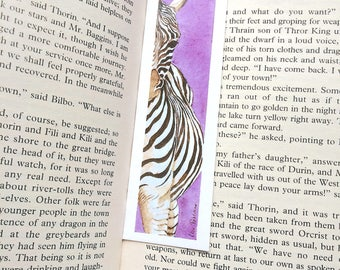 Zebra Bookmark - 39 x 148 mm - Animal Bookmark