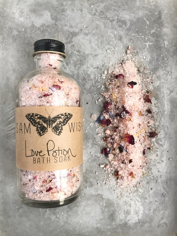 Love Potion Bath Soak // Valentine's Day // All Natural // Organic // Vegan