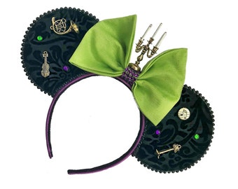 Haunted Mansion Mouse Ears | Madame Leota Inspired Mouse Ears | Halloween Mouse Ears | Mouse Ears Headband