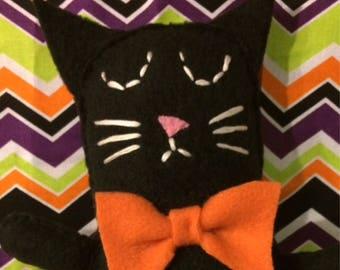 Halloween Black Cat Doll, Cat Doll, Halloween Cat Plush
