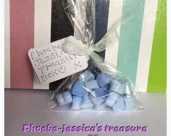 wax melts x20 mini highly scented wax hearts