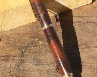 Walnut Burl wood rollerball pen