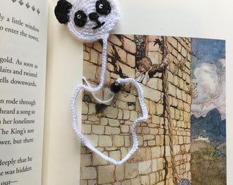 Panda Crochet Bookmark