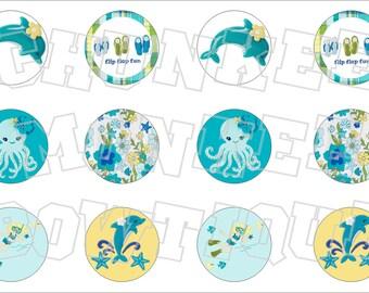 Made to Match Gymboree M2MG Sea Splash bottlecap image sheet