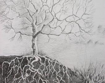Ancestors - Original Graphite Drawing
