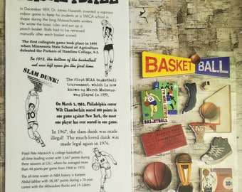 Basketball Vintage Style Stickers / Titles and Quotes = 3D Foam / Basketball Hoop / Converse style sneakers / Scrapbook / Card making