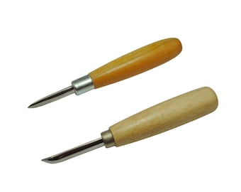 Proops Straight & Curved Pair of Stainless Steel Burnishers. Highly Polished Tools. (J1168) Free UK Postage