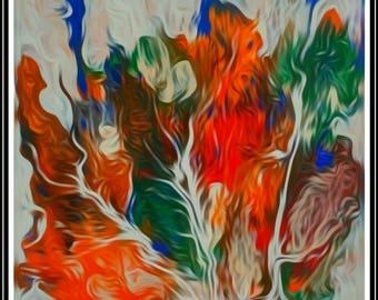 Abstract Acrylic Original Modern fine art paper wall art Giclee Print modern Living room art fine print paper contemporary wall  art print