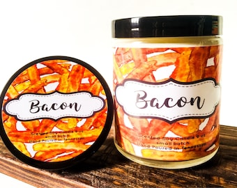 Fathers Day Gift - Bacon Gift Candle - Best Dad Ever - Bacon Candle - BACON - Man Candles - Gifts For Men - Bacon Gifts - Scented Candles -