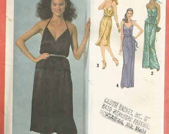 Vintage Simplicity 9242 Evening WearDress Pattern SZ 8