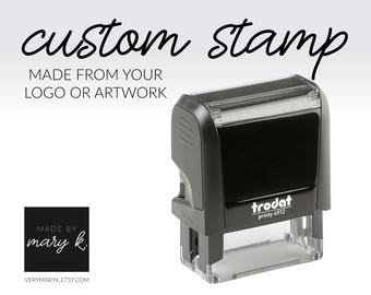 Custom Self-Inking Stamp, Custom Logo Stamp, Personalized Stamp. YOUR LOGO / ART on a Stamp!