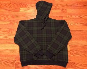 Vtg RARE plaid polo pullover hoodie