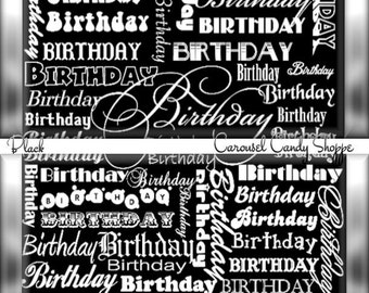 Over The Hill Birthday Party Favors Hershey's Candy Bar Wrappers Black