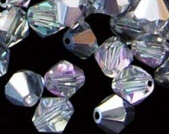 12pc - 5mm Preciosa Crystal Vitrail Light BiCone Spacer Beads