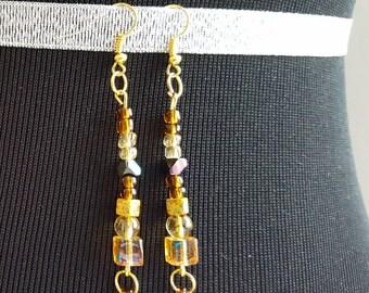 Golden Bead Earrings