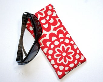 Padded Sunglass Pouch in Amy Butler Wallflower Fabric