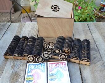 Steampunk Poker Set