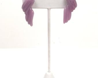 Vintage 1980s Light Purple Pierced Earrings