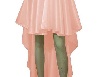 Satin skirt Bridesmaids skirt High low skirt Peach skirt Plus size skirt Prom formal skirt Wedding skirt XS S M L XL 0XL 1XL 2XL 3XL 4XL 5XL