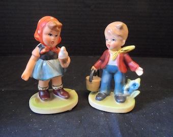 Vintage 1950s Napcoware figurine C7199 Girl with Ice Cream Cone and Napcoware C7364 Boy With Bucket Figurine    1538