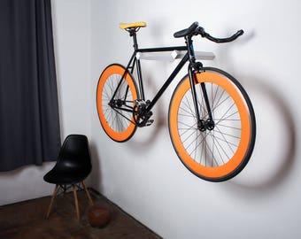 Dublin - Wall bike hooks / wooden rack for bike storage / bike stand / White