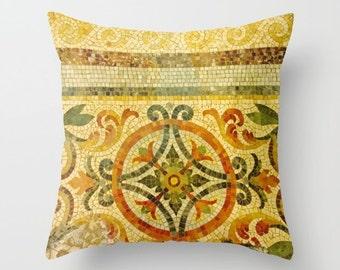 Modern Pillow Cover, Mosaic, 6 sizes,home decoration,cottage decor,interior design,red,orange,green,decorative pillow,architectural pillow