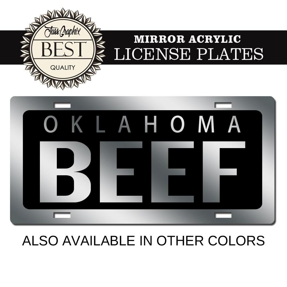 Nummernschild Oklahoma Spiegel Auto Tag für Lastwagen Autos