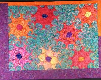 Handmade Art Quilt - H1N1
