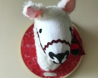 Lucinda Llama Faux Taxidermy Llama Head /Stuffed Animal Head/Stuffed Llama Head/Head Mount /Trophy Head/Trophy Llama/Faux Taxidermy Llama