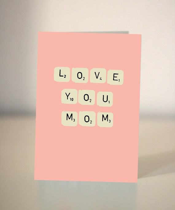 Items similar to love you mommum birthday card for mom or mum items similar to love you mommum birthday card for mom or mum just to say i love you card on etsy bookmarktalkfo Choice Image