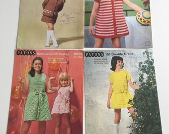 4 vintage crochet patterns genuine