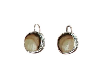 Royal Sahara Jasper Earrings Sterling Silver #2 NewWorldGems