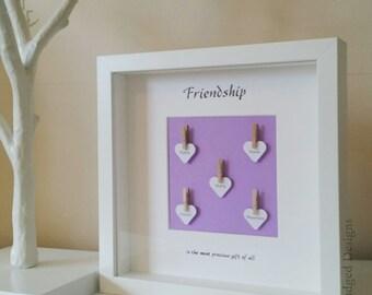 Friendship Frame, Best Friends, Best Friend, Besties? BFF, Personalised Keepsake Gift, Friendship gift