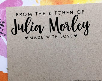 From The Kitchen Of Stamp, Personalized Kitchen Stamp, Made With Love Stamp, Custom Wooden Stamp, Rubber Stamp, Baker and Cook Gift