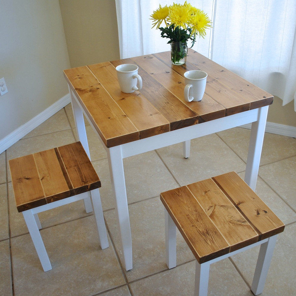 🔎zoom & Farmhouse Breakfast Table or Dining Table Set with or without