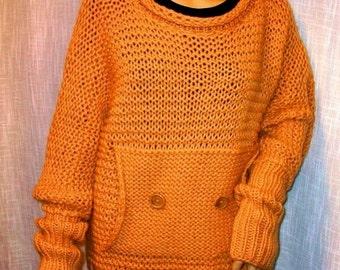 Hand knitted sweater.Women.