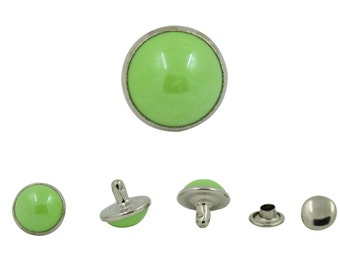 100 pcs. Green Pearl Rivets Studs Buttons Leathercraft Decorations 10 mm. PL G 10 202