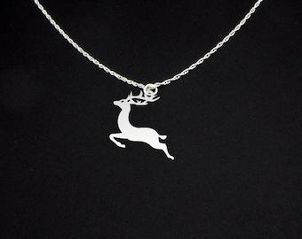 Reindeer Necklace - Reindeer Jewelry - Reindeer Gift