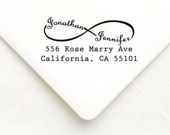Personalized Self Inking Return Address Stamp - self inking address stamp - Custom Rubber Stamp A33
