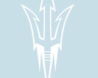 """ASU Arizona State Sun Devils 4"""" Premium Die-Cut Vinyl Decal / Sticker"""