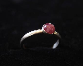 Sterling Silver and Pink Tourmaline Ring