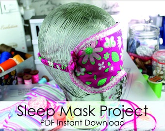 Sleep Mask - Mini Project- PDF Instant Download- Make At Home Today! Detailed Sew Along -