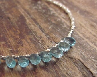 Blue Apatite Bracelet Apatite Bracelets Beaded Bracelets Something Blue Gift for Bride Gemstone Jewelry Bead Bracelet Womens Gift for Women
