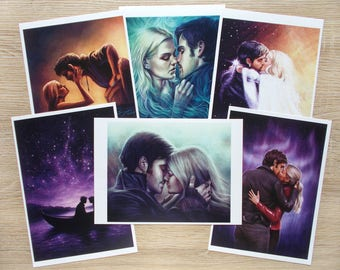 Captain Swan (Emma & Hook) art prints