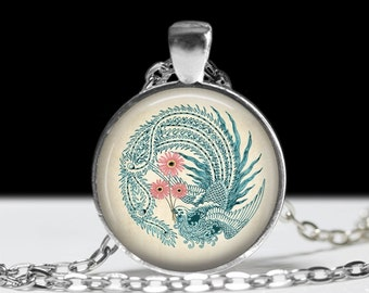 Bird Jewelry Bird Pendant Wearable Art Bird Pendant Charm Blue Bird Jewelry