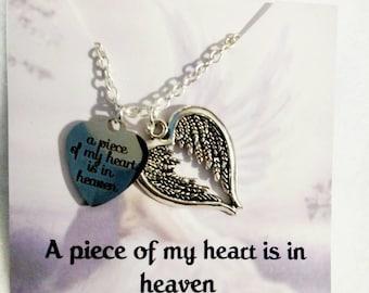 Memorial Jewelry- Memorial Necklace- Sympathy Gift- Remembrance Jewelry- Memorial Gift- Dad memorial - Mom Memorial - In loving Memory